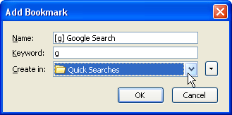 Firefox smart keywords explained: quick search from the address bar