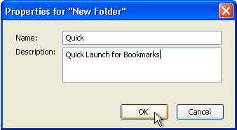 how to create new folder in bookmarks