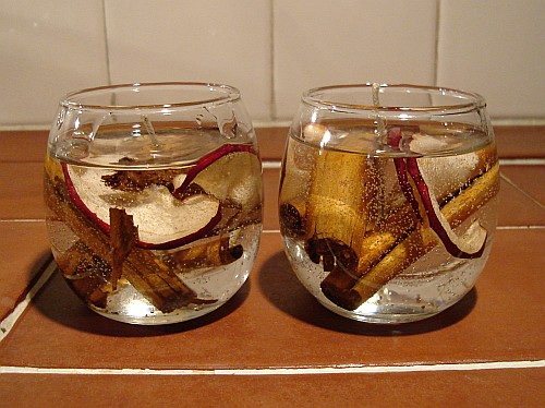 scented gel candles dried apple slices cinnamon - *Candles*