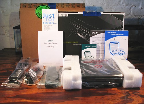 unpacking the acer aspire 4320